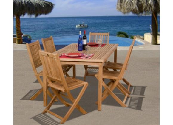 International Home Miami Amazonia Teak Prague 7-pc Teak Dining Set