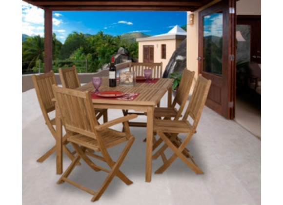 International Home Miami Amazonia Teak Rotterdam 7-pc Teak Dining Set