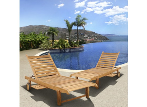 International Home Miami Amazonia Teak Cairo 2 pc Teak Loungers