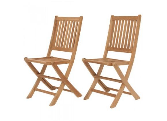 International Home Miami Amazonia Teak London Teak Folding Chair