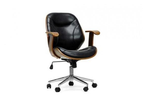 Baxton Studio Rathburn Walnut and Black Modern Office Chair