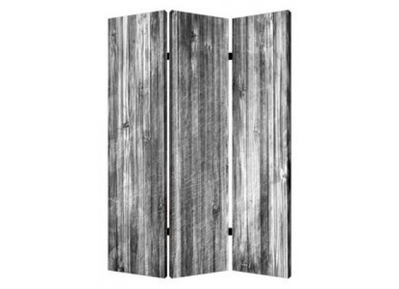 Screen Gems Distressed Wood Canvas Screen