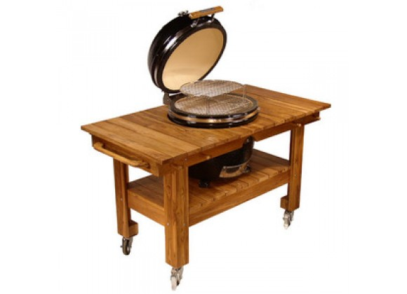Fireside America Teak Cart with Wood Top