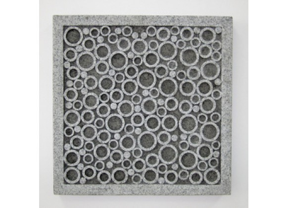 Screen Gems Sandstone Square Wall Decor With Bubbles - Set of 2