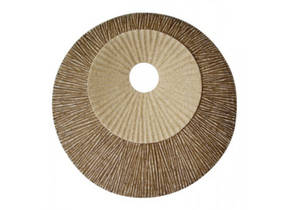 Screen Gems Sandstone Round Double Layer Ribbed Wall Plaque - Set of 2