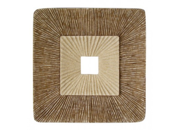 "Screen Gems 19"" Sandstone Square Design Wall Plaque - Set of 2"