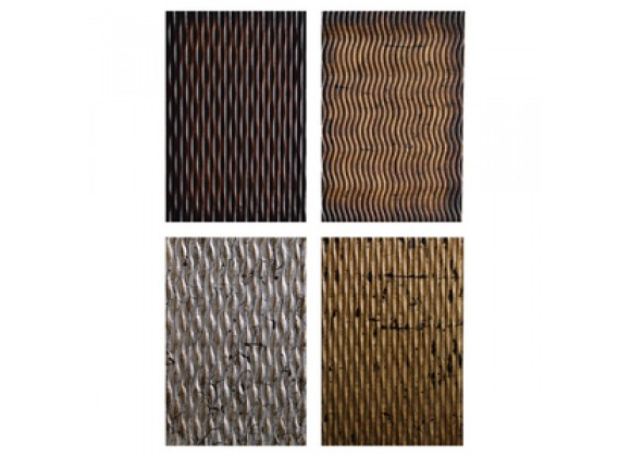 Screen Gems Metallic Ridge Wall Art - Set of 4