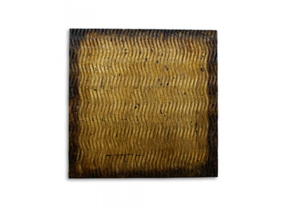 Screen Gems Metallic S Pattern Brown Wall Art