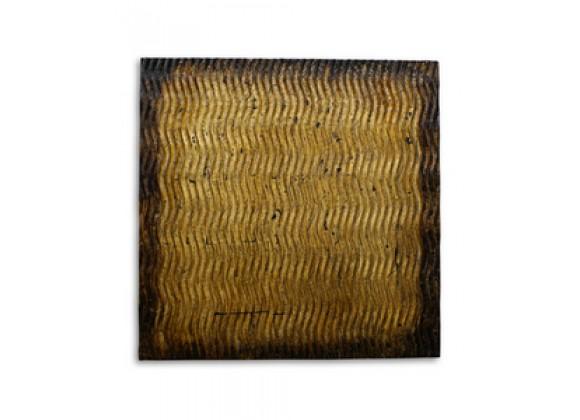 Screen Gems Metallic S Pattern Brown Wall Art