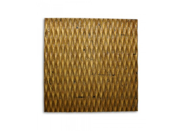 Screen Gems Metallic Ridge Gold Wall Art