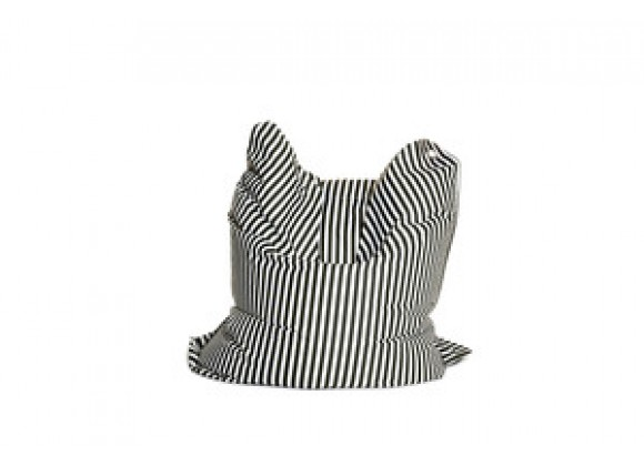 Sitting Bull Fashion Bean Bag - Black and White