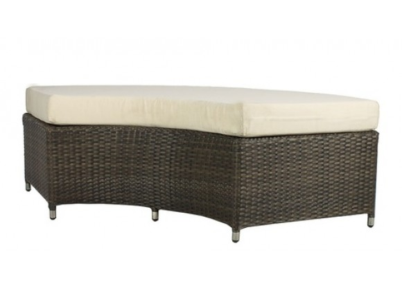 Source Outdoor Circa 1/4 Round Backless Bench