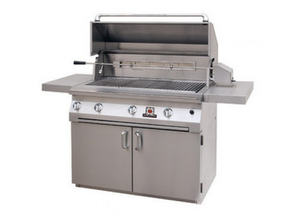 "Solaire 42"" InfraVection Premium Cart Grill with Rotiss"