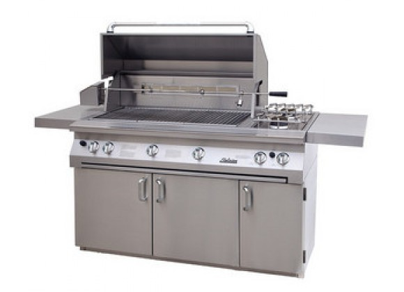 "Solaire 56"" InfraVection Standard Cart Grill with Rotiss"