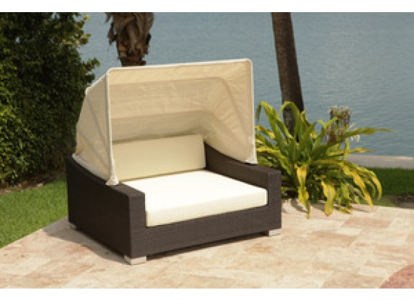 Source Outdoor King Day Bed with Canopy