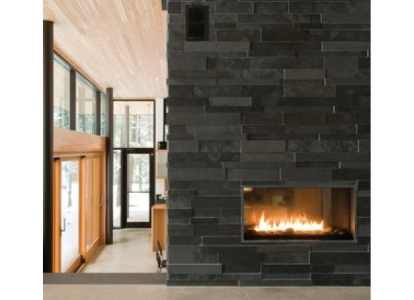 Spark Modern Fires - Fire Ribbon Direct Vent Vu Thru - 3FT and 4FT  WIth Mandatory Safety Screen
