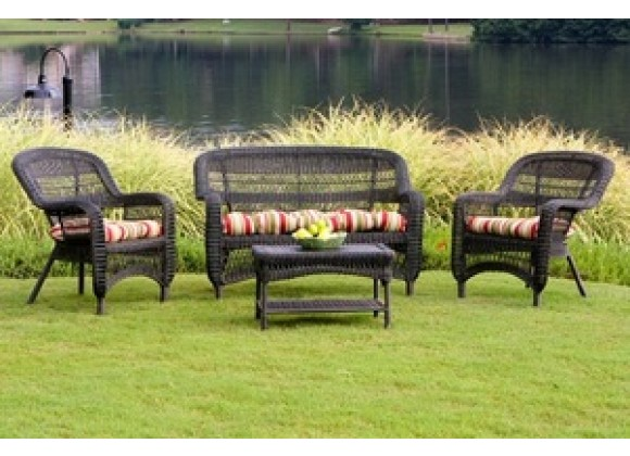 Tortuga Outdoor Portside Dark Roast 4-Piece Seating Set