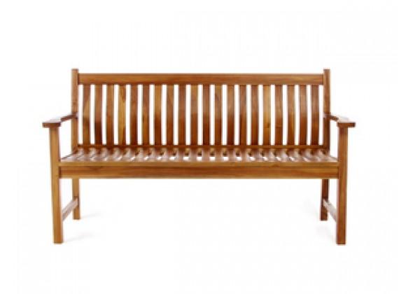 Teak Garden Wooden Bench - front