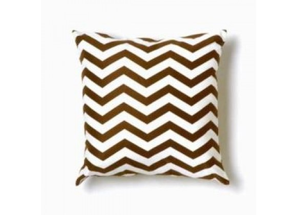 Twinkle Living Zig Zag Throw Pillow in Brown