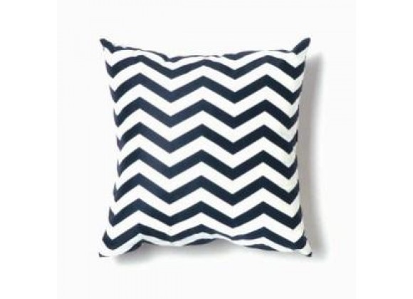 Twinkle Living Zig Zag Throw Pillow in Navy