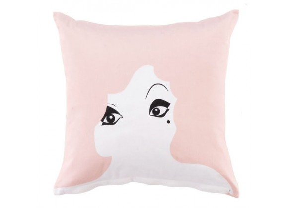 Twinkle Living Glamour Girl Throw Pillow in Dusty Rose