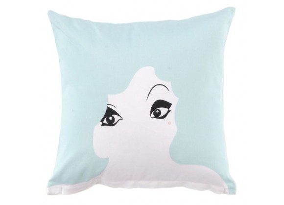 Twinkle Living Glamour Girl Throw Pillow in Seafoam