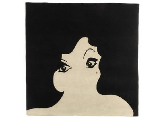 Twinkle Living Glamour Girl Rug in Black/Beige