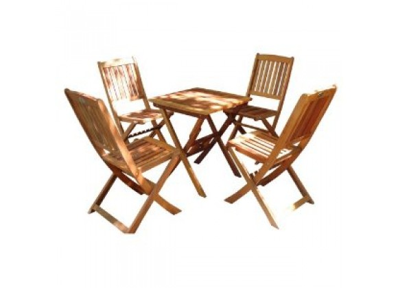 Vifah Modern Patio Glaser Folding Bistro Set 2