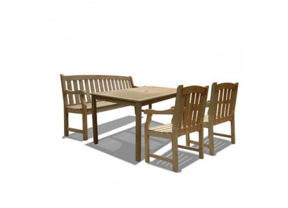 Vifah Modern Patio Renaissance Rectangular Table
