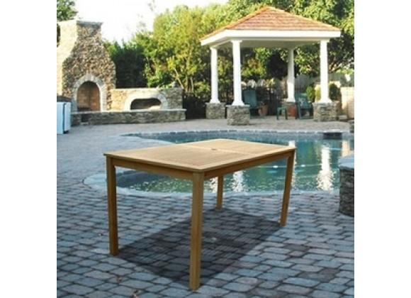 Vifah Modern Patio Renaissance Outdoor Hand-scraped Hardwood Rectangular Table
