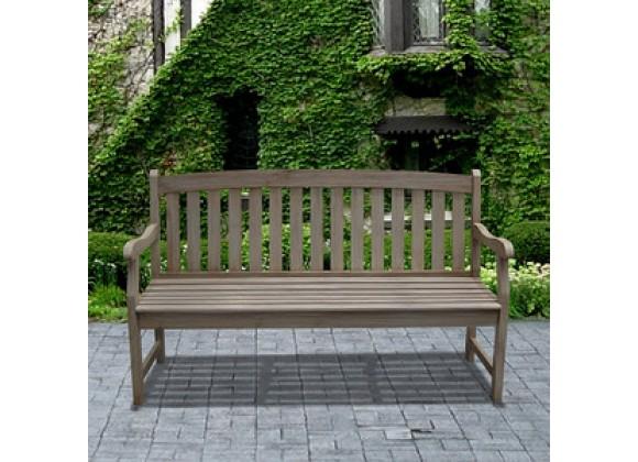Vifah Modern Patio Renaissance Outdoor Hand-scraped Hardwood Bench
