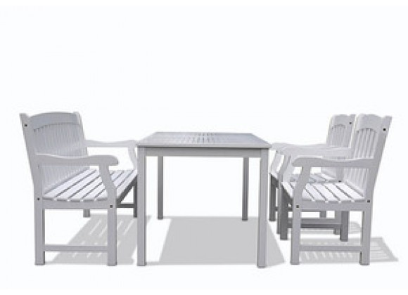 Vifah Modern Patio Bradley Rectangular Extension Table