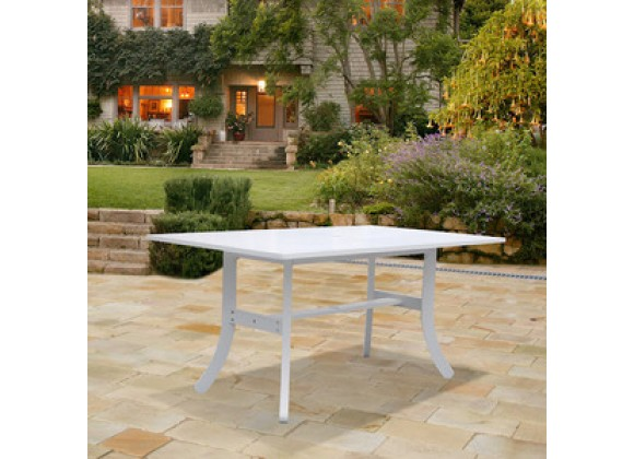 Vifah Modern Patio Bradley Outdoor Wood Rectangular Dining Table