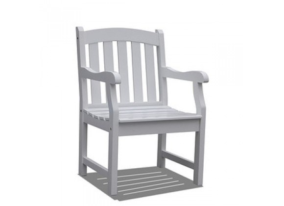 Vifah Modern Patio Bradley Outdoor Wood Armchair