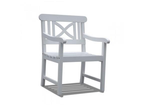 Vifah Modern Patio Bradley Outdoor Wood Armchair