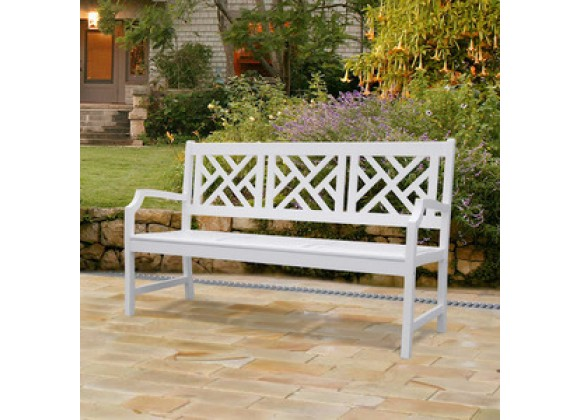 Vifah Modern Patio Bradley Outdoor Wood Bench