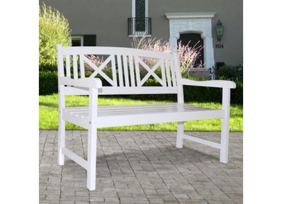 Vifah Modern Patio Bradley Outdoor Wood Bench
