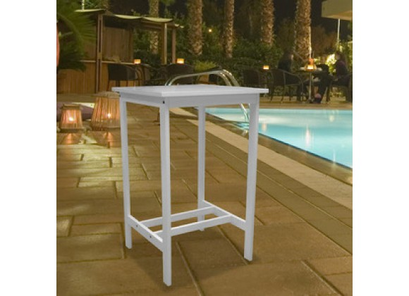 Vifah Modern Patio Bradley Outdoor Wood Bar Table