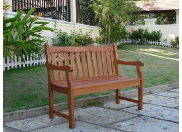Vifah Modern Patio Outdoor 2-Seater Henley Bench