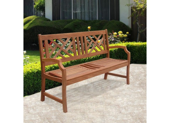 Vifah Modern Patio Outdoor 2-Seater Atlantic Bench