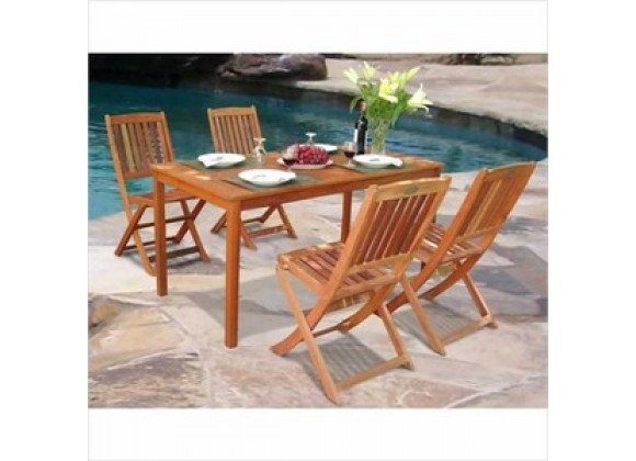 Vifah Modern Patio Balthazar Dining Set 3
