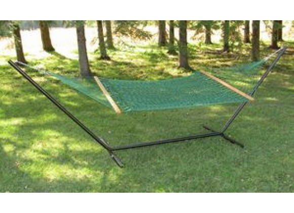 Vivere Polyester Rope Hammock - Double in Forest