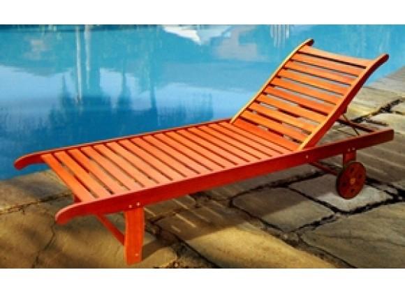 Vifah Modern Patio Single Chaise Lounge