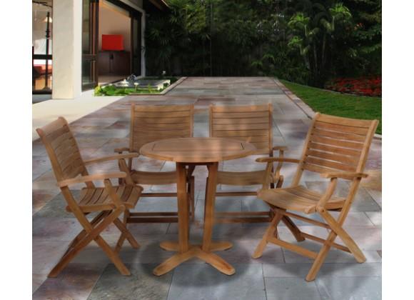 International Home Miami Amazonia Aruba 5 pc Teak Dining Set