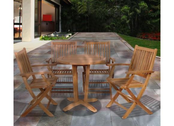 International Home Miami Amazonia Kansas 5 pc Teak Dining Set