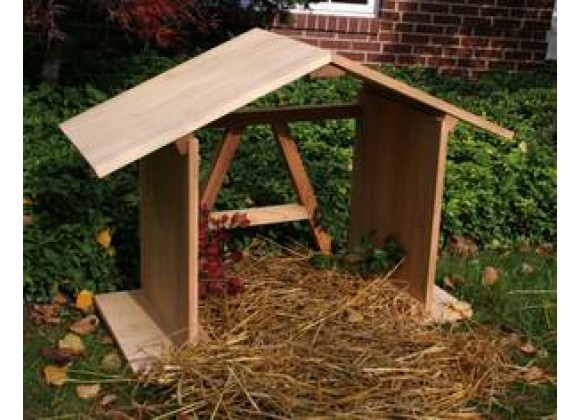 Creekvine Designs 3-Ft Cedar Manger with Open Back