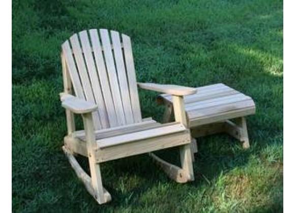 Creekvine Designs Cedar American Forest Adirondack Rocker & Side Table Set