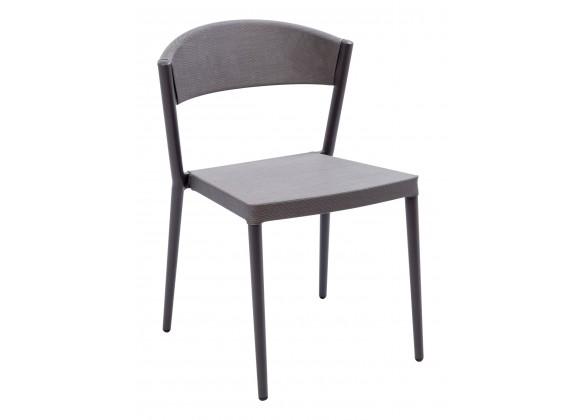 Powder Coated Aluminum Frame Side Chair - TEX-01S