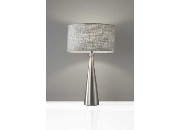 Linda Table Lamp - Brushed Steel