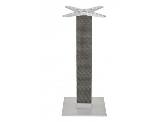 Aluminum PE Wicker Post Table Stand - AL-2500BH 18×6 WIC - Silver